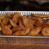 Chicken finger appetizer catering tray Served w/ranch