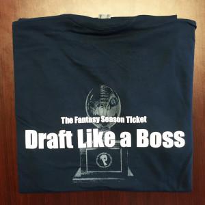 Draft like a boss t-shirt - Back
