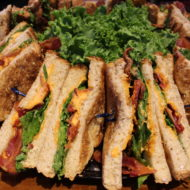 BLT Catering Tray comes with Bacon, Lettuce & Tomato on toasted wheat bread. Served w/homemade Roasted Tomato Aioli Boss Sauce
