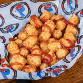 Crispy tater tot appetizer with fry seasoning